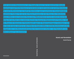 Kunst und Revolution von Raunig,  Gerald