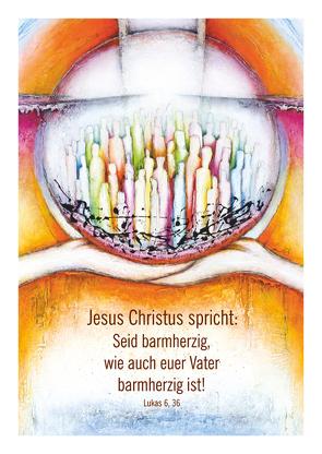 Kunstblatt DIN A4 Jahreslosung 2021 von Sautter,  Andrea