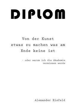 Kunstdiplom von Eisfeld,  Alexander