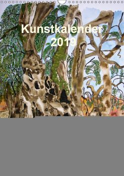 Kunstkalender 2019 – Zauber der Malerei (Wandkalender 2019 DIN A3 hoch) von Kröll,  Ulrike