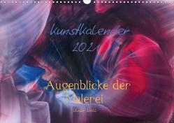 Kunstkalender 2021 – Augenblicke der Malerei (Wandkalender 2021 DIN A3 quer) von Kröll,  Ulrike