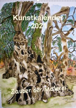 Kunstkalender 2021 – Zauber der Malerei (Wandkalender 2021 DIN A2 hoch) von Kröll,  Ulrike