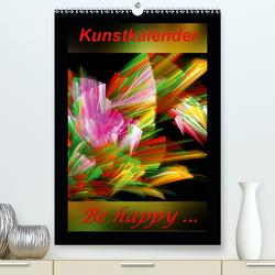 Kunstkalender – Be happy… / CH-Version (Premium, hochwertiger DIN A2 Wandkalender 2020, Kunstdruck in Hochglanz) von Art-Motiva