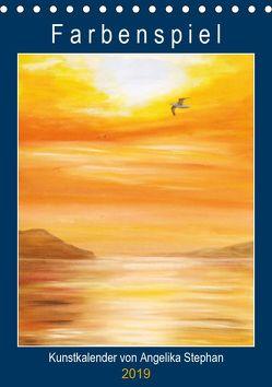 Kunstkalender Farbenspiel von Angelika Stephan (Tischkalender 2019 DIN A5 hoch) von Stephan,  Angelika