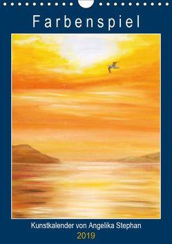 Kunstkalender Farbenspiel von Angelika Stephan (Wandkalender 2019 DIN A4 hoch) von Stephan,  Angelika