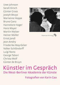 Künstler im Gespräch von Gaa,  Karin, Zimmermann,  Hans Dieter
