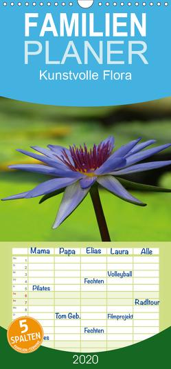 Kunstvolle Flora – Familienplaner hoch (Wandkalender 2020 , 21 cm x 45 cm, hoch) von Laimgruber,  Dagmar
