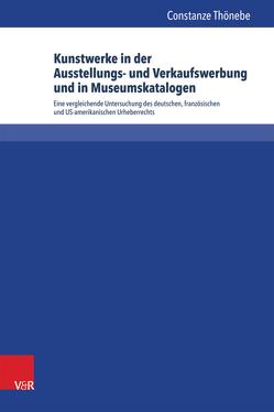 Kunstwerke in der Ausstellungs- und Verkaufswerbung und in Museumskatalogen von Thönebe,  Constanze
