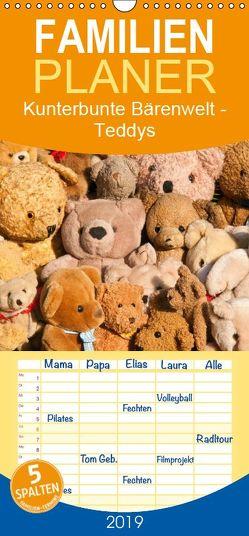 Kunterbunte Bärenwelt – Teddys – Familienplaner hoch (Wandkalender 2019 , 21 cm x 45 cm, hoch) von Bölts,  Meike