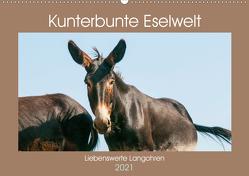 Kunterbunte Eselwelt – Liebenswerte Langohren (Wandkalender 2021 DIN A2 quer) von Bölts,  Meike