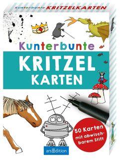 Kunterbunte Kritzelkarten von Lerch-Kristl,  Hannah