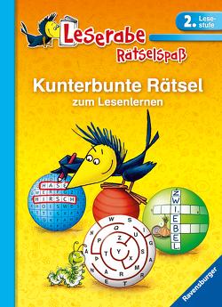 Kunterbunte Rätsel zum Lesenlernen (2. Lesestufe) von Lohr,  Stefan, Merk,  Lena, Schulmeyer,  Heribert, Volk,  Katja