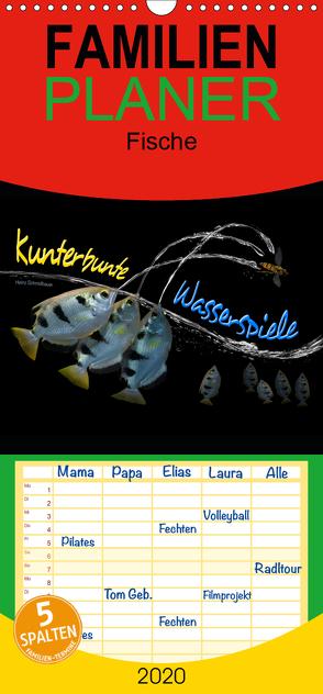 Kunterbunte Wasserspiele – Familienplaner hoch (Wandkalender 2020 , 21 cm x 45 cm, hoch) von Schmidbauer,  Heinz