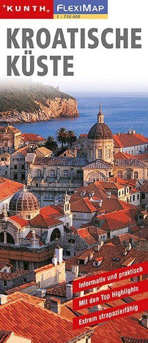 KUNTH FlexiMap Kroatische Küste 1:730000 von KUNTH Verlag