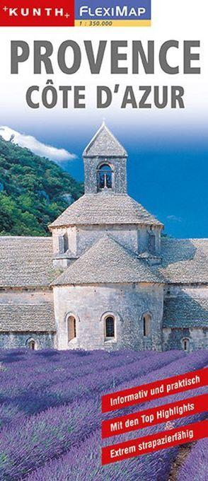 KUNTH FlexiMap Provence, Cote d ´Azur 1:350000 von KUNTH Verlag