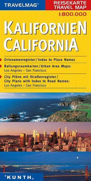 KUNTH Reisekarte Kalifornien 1:800 000 von KUNTH Verlag