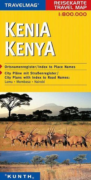 KUNTH Reisekarte Kenia 1:800 000 von KUNTH Verlag