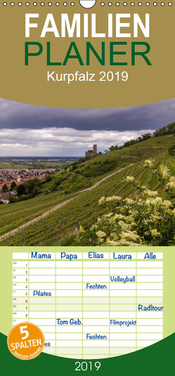 Kurpfalz – Familienplaner hoch (Wandkalender 2019 , 21 cm x 45 cm, hoch) von Losekann,  Holger