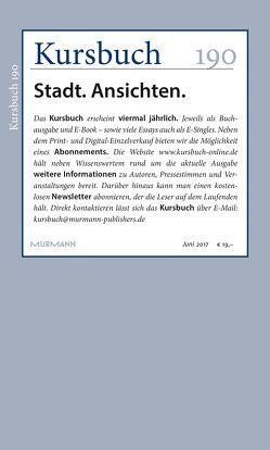 Kursbuch 190 von Felixberger,  Peter, Nassehi,  Armin