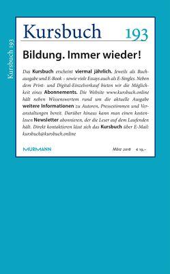 Kursbuch 193 von Felixberger,  Peter, Nassehi,  Armin