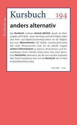 Kursbuch 194 von Felixberger,  Peter, Nassehi,  Armin