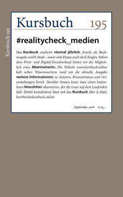 Kursbuch 195 von Felixberger,  Peter, Nassehi,  Armin