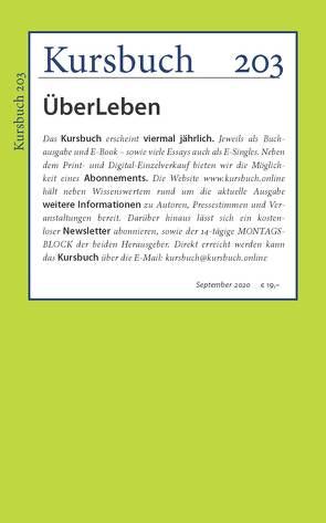 Kursbuch 203 von Felixberger,  Peter, Nassehi,  Armin