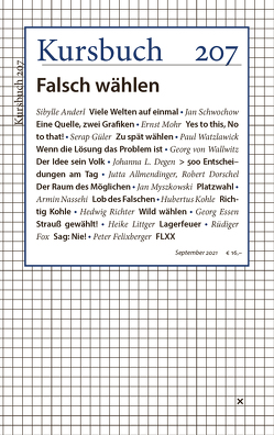 Kursbuch 207 von Felixberger,  Peter, Nassehi,  Armin