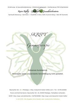 Kursinterne Skripte / Gemmotherapie von Röhlig,  Karin