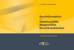 Kurzinformation über Arbeitsunfälle Wegeunfälle Berufskrankheiten von Braunsteffer,  Heike, Schieke,  Heinz, Schudmann,  Jörg