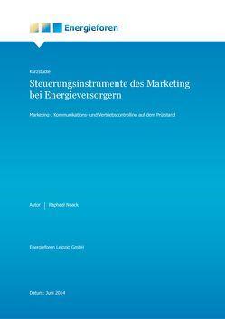 Kurzstudie: Steuerungsinstrumente des Marketing bei Energieversorgern von Noack,  Raphael