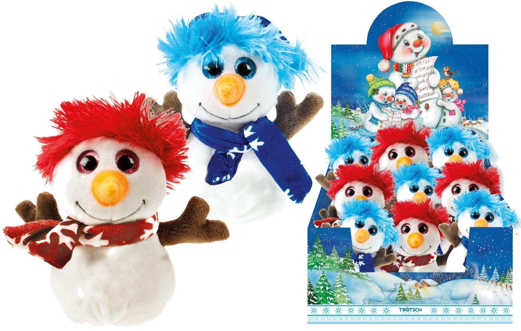 Kuscheltier Schneemann Weihnachten Glitzeraugen Plüschtier von : VE: