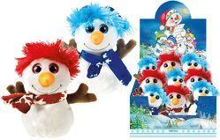 Kuscheltier Schneemann Weihnachten Glitzeraugen Plüschtier