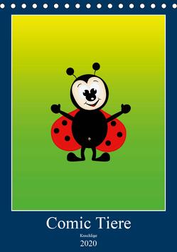 Kuschlige Comic Tiere (Tischkalender 2020 DIN A5 hoch) von Burlager,  Claudia
