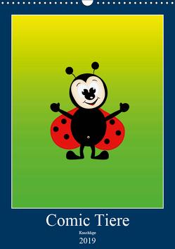 Kuschlige Comic Tiere (Wandkalender 2019 DIN A3 hoch) von Burlager,  Claudia
