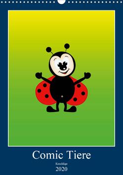 Kuschlige Comic Tiere (Wandkalender 2020 DIN A3 hoch) von Burlager,  Claudia