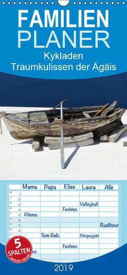 Kykladen – Traumkulissen der Ägäis – Familienplaner hoch (Wandkalender 2019 , 21 cm x 45 cm, hoch) von Bleicher,  Renate