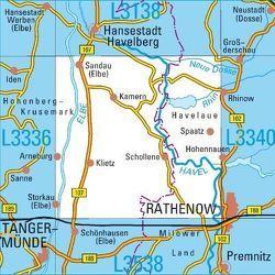 L3338 Arneburg Topographische Karte 1:50000