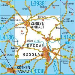 L4138 Dessau-Roßlau Topographische Karte 1:50000