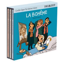 La Bohème, Der Barbier von Sevilla, La Traviata – Die ZEIT-Edition (3 CDs) von Könnecke,  Ole, Petzold,  Bert Alexander, Puccini,  Giacomo