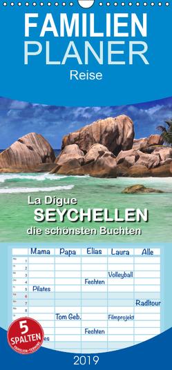 La Digue Seychellen – die schönsten Buchten – Familienplaner hoch (Wandkalender 2019 , 21 cm x 45 cm, hoch) von Höcker,  Frank