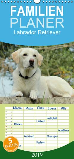 Labrador Retriever 2019 – Familienplaner hoch (Wandkalender 2019 , 21 cm x 45 cm, hoch) von Schreuer,  Anita