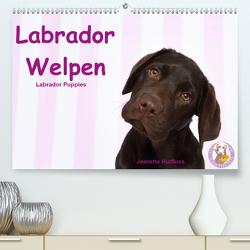 Labrador Welpen – Labrador Puppies (Premium, hochwertiger DIN A2 Wandkalender 2020, Kunstdruck in Hochglanz) von Hutfluss,  Jeanette