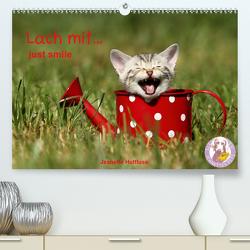 lach mit…just smile (Premium, hochwertiger DIN A2 Wandkalender 2020, Kunstdruck in Hochglanz) von Hutfluss,  Jeanette