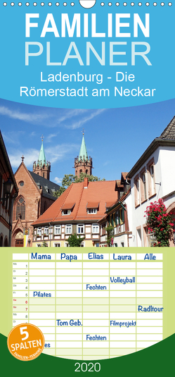 Ladenburg – Die Römerstadt am Neckar – Familienplaner hoch (Wandkalender 2020 , 21 cm x 45 cm, hoch) von Andersen,  Ilona