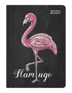 Ladytimer Chalkboard Flamingo 2020 – Taschenkalender A6 (11 x 15) – Weekly – 192 Seiten – Notizbuch – Terminplaner von ALPHA EDITION
