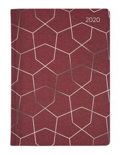 Ladytimer Glamour Pattern 2020 – Taschenplaner – Taschenkalender A6 – Weekly – 192 Seiten – Metallicprägung Muster von ALPHA EDITION