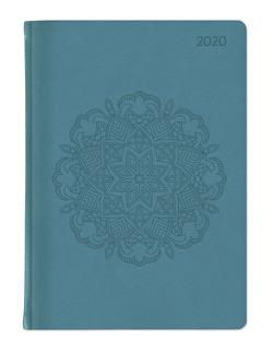 Ladytimer Grande Deluxe Turquoise 2020 – Taschenplaner – Taschenkalender A5 – Tucson Einband – Motivprägung Muster – Weekly – 128 Seiten von ALPHA EDITION