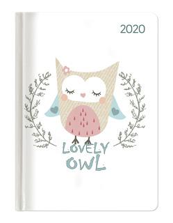 Ladytimer Lovely Owl 2020 – Eule – Taschenkalender A6 (11 x 15) – Weekly – 192 Seiten – Notizbuch – Terminplaner von ALPHA EDITION