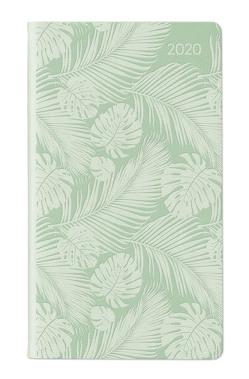 Ladytimer Slim Deluxe Pastel Mint 2020 – Taschenplaner – Taschenkalender (9 x 16) – Tucson Einband – Motivprägung Blätter – Weekly – 128 Seiten von ALPHA EDITION